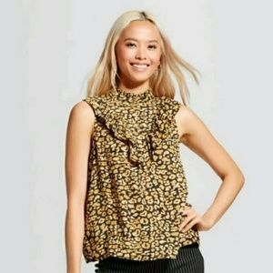 Who What Wear • Leopard Sleeveless Blouse